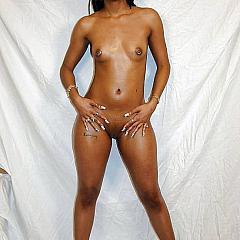 Ebony swarthy.