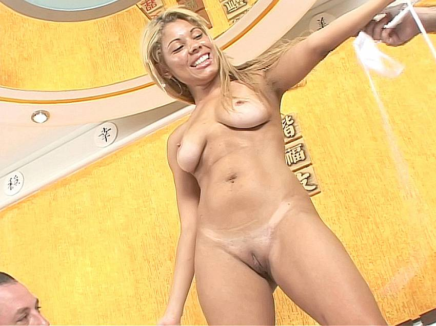 Blonde brazilian tits excited too
